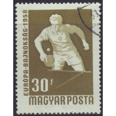 1958, август. Почтовая марка Венгрии. Спортивный чемпионат, Будапешт. 30 филлер