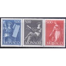 """1989, июль. Набор почтовых марок Монако. Международная выставка марок """"PHILEX FRANCE '89"""" - Париж, Франция"""