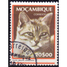 1979 Март Мозамбик Кошки Африканский Лесной Кот 20.00 эскудо