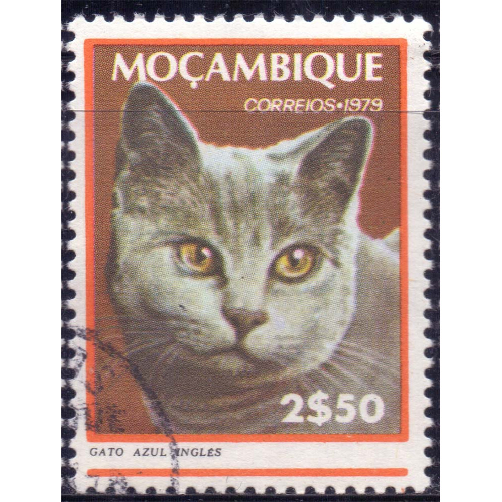 1979 Март Мозамбик Кошки Английский Синий Кот 2.50 эскудо