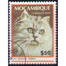 1979 Март Мозамбик Кошки Темно-Серебристый Кот 50 сентаво