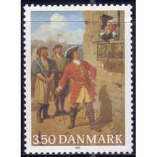 1990, октябрь. Почтовая марка Дании. The 300th Anniversary of the Birth of Tordenskiold