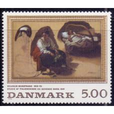 1994, ноябрь. Почтовая марка Дании. Paintings