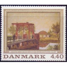 1989, ноябрь. Почтовая марка Дании. Paintings