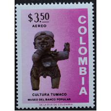 1973, июнь. Почтовая марка Колумбии. Музей доколумбовых древностей, Богота. Авиапочта. 3.50 песо