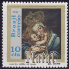 1969, декабрь. Почтовая марка Бразилии. Рождество