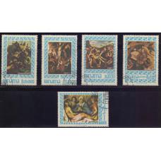 1967, март. Набор марок Панамы. Религиозные картины