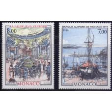 1989, октябрь. Набор почтовых марок Монако. Виды Монако