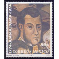 1975, май. Почтовая марка Мексики. The 200th Anniversary of the Birth of General Aldama