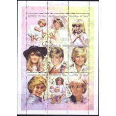 1997 Ноябрь Чад Смерть Дианы, принцессы Уэльской 300 франков