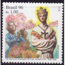1996, сентябрь. Почтовая марка Бразилии. 150-летие Богоматери в Ла-Сальете