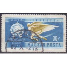 1962, июль. Почтовая марка Венгрии. История авиации. 30 филлер