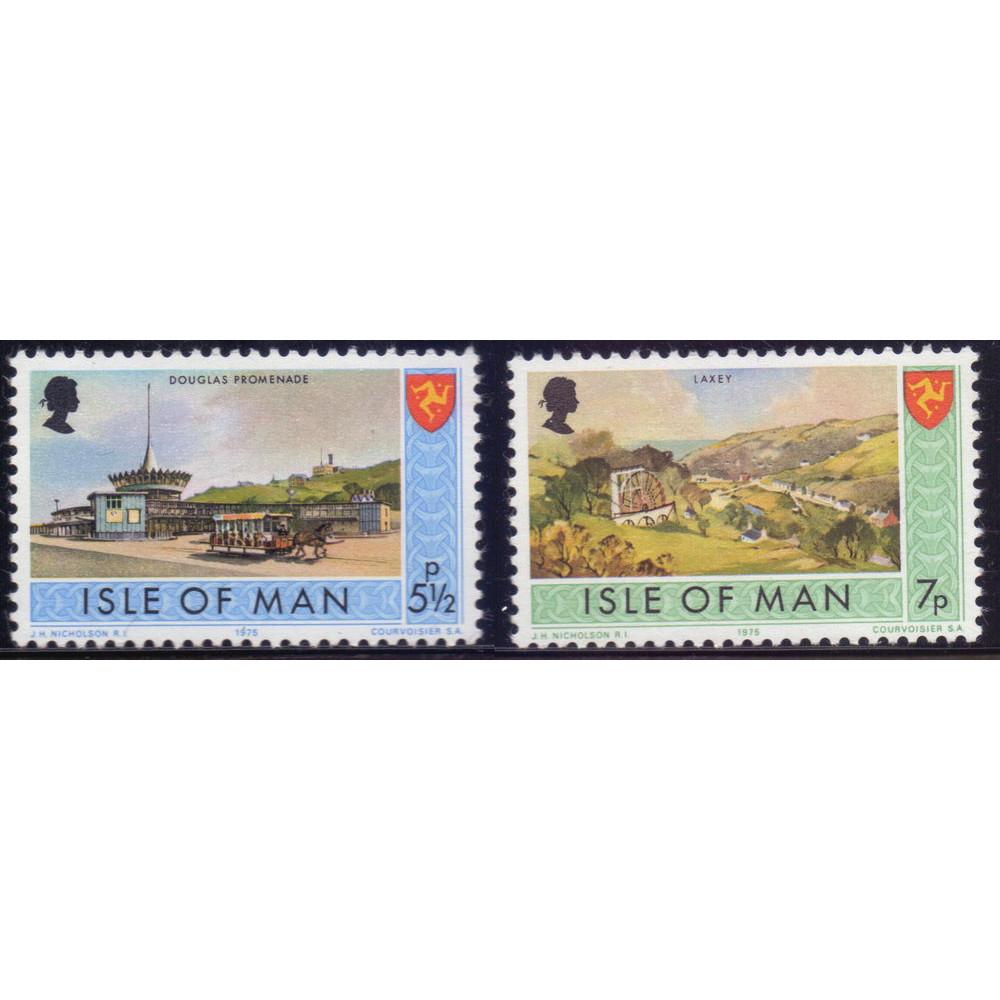 1975, май. Набор почтовых марок Острова Мэн. Пейзажи