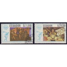 1967, март. Набор почтовых марок Эквадора. Олимпийские игры - Мексика 1967