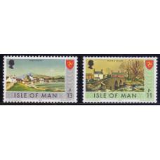 1975, октябрь. Набор почтовых марок Острова Мэн. Пейзажи