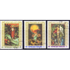 1971 Апрель Набор Авиа Марок Республики Того Пасха Картины Easter Paintings