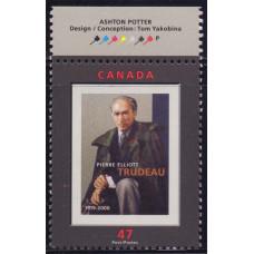 2001 Июль Канада Памяти Пьера Трюдо 47 центов