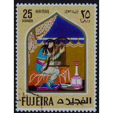 1967, июль. Почтовая марка Фуджейра (ОАЭ). Сказки. Авиапочта. 25 дирхам