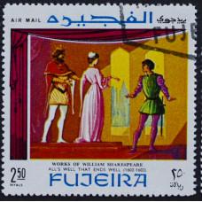 1969, январь. Почтовая марка Фуджейра (ОАЭ). Сцены из произведений Шекспира. Авиапочта. 2,50 риал