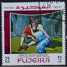 1969, январь. Почтовая марка Фуджейра (ОАЭ). Сцены из произведений Шекспира. 25 дирхам