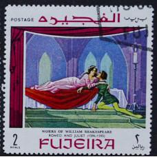 1969, январь. Почтовая марка Фуджейра (ОАЭ). Сцены из произведений Шекспира. 2 риал