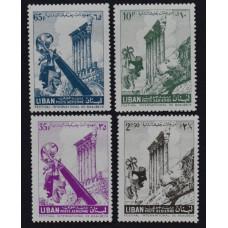 1956, декабрь. Набор почтовых марок Ливана. Международный фестиваль Баальбека. Авиапочта