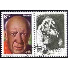 1981 Март Польша 100 лет со Дня Рождения Пабло Пикассо 8.40 злотых