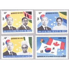1982 Август Южная Корея Президентские Визиты в Африку и Канаду