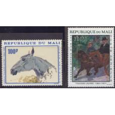 1967, декабрь. Набор марок Мали. Toulouse-Lautrec Commemoration