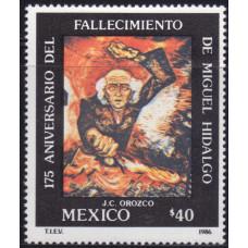 1986, июль. Почтовая марка Мексики. The 175th Anniversary of the Death of Miguel Hidalgo