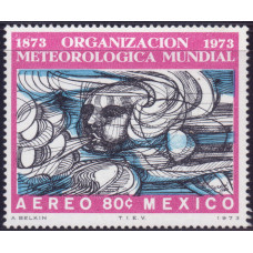 1973, сентябрь. Почтовая марка Мексики. The 100th Anniversary of W.M.O