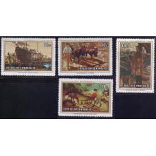 1969, декабрь. Набор марок Руанды. 50-летие Международной организации труда