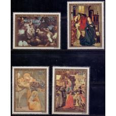 1973, декабрь. Набор почтовых марок Дагомеи. Рождество. Авиапочта