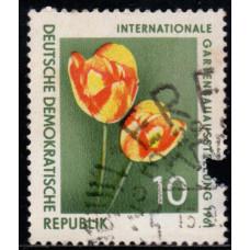 1961, сентябрь. Почтовая марка Германии (ГДР). Цветы. Садовая выставка в Эрфурте. 10 пфенинг