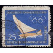 1960, январь. Почтовая марка Германии (ГДР). Олимпийские игры - Рим, Италия. 25 пфенинг