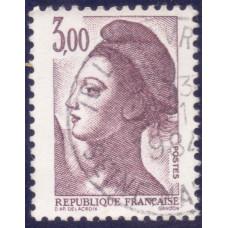 1982 Ноябрь Почтовая Марка Франции Свобода Liberty 3.00 Fr