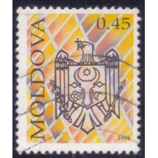 1994 Июнь Почтовая Марка Молдавии Герб Coat of Arms 0.45  L