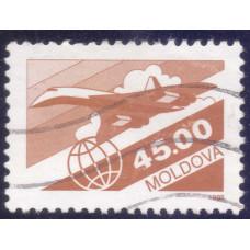 1993 Июль Почтовая Марка Молдавии Авиа Почта Airmail 45.00 R