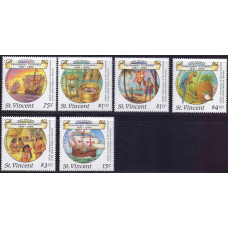 1988, январь. Набор почтовых марок Сент-Винсента. 500-летие открытия Америки
