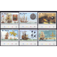 1988, июль. Набор почтовых марок Сент-Винсента. 400-летие испанской Армады