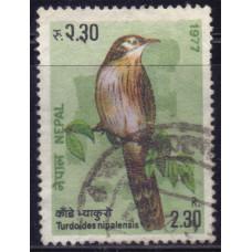 1977 Сентябрь Непал Колючая Дроздовая Тимелия 2.30 рупии