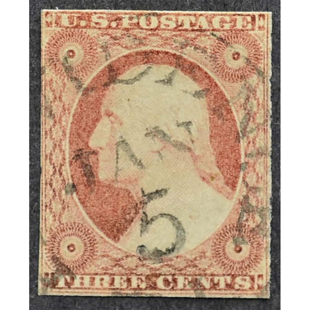1851 США Джордж Вашингтон 3 цента