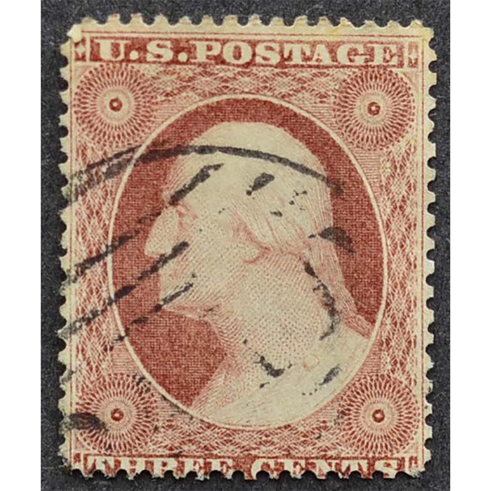 1857 Февраль США Джордж Вашингтон 3 цента