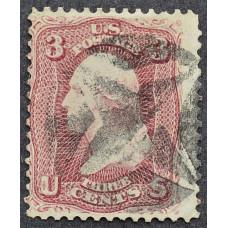 1861 Август США Джордж Вашингтон 3 цента