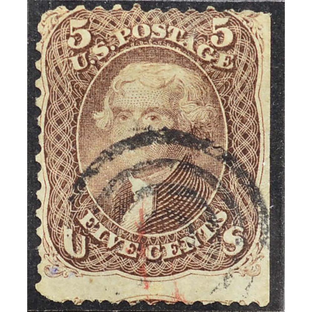 1862 Январь США Томас Джефферсон 5 центов