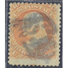 1861 Август США Бенджамин Франклин 30 центов