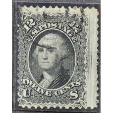 1861 Август США Джордж Вашингтон 12 центов