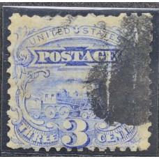 1869 Март США Локомотив 4-4-0 3 цента