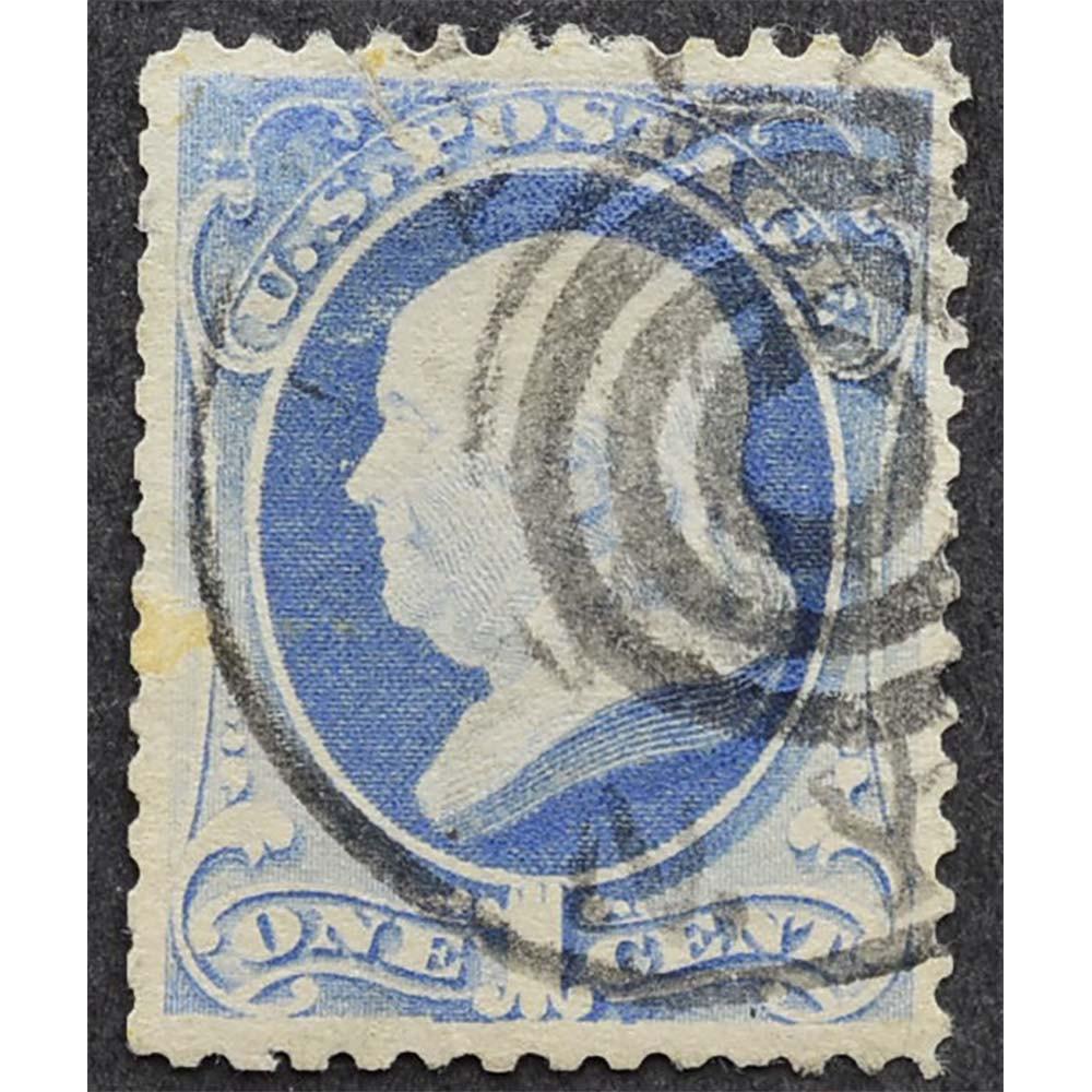 1870 Апрель США Бенджамин Франклин 1 цент