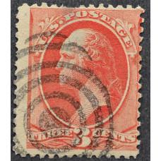 1887 Сентябрь США Джордж Вашингтон 3 цента